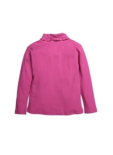 Zeyland Fırfırlı Yaka Uzun Kollu T-Shirt (5-12yaş) Fırfırlı Yaka Uzun Kollu T-Shirt (5-12yaş) Fuşya